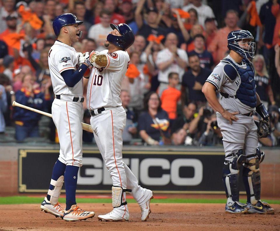 New York Yankees catcher Gary Sanchez (24) looks