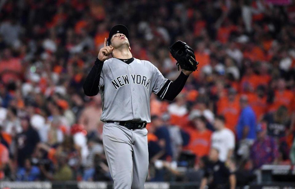 New York Yankees relief pitcher Luis Cessa (85)
