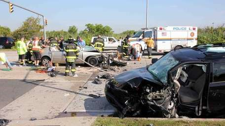 A motor vehicle accident in Lido Beach early