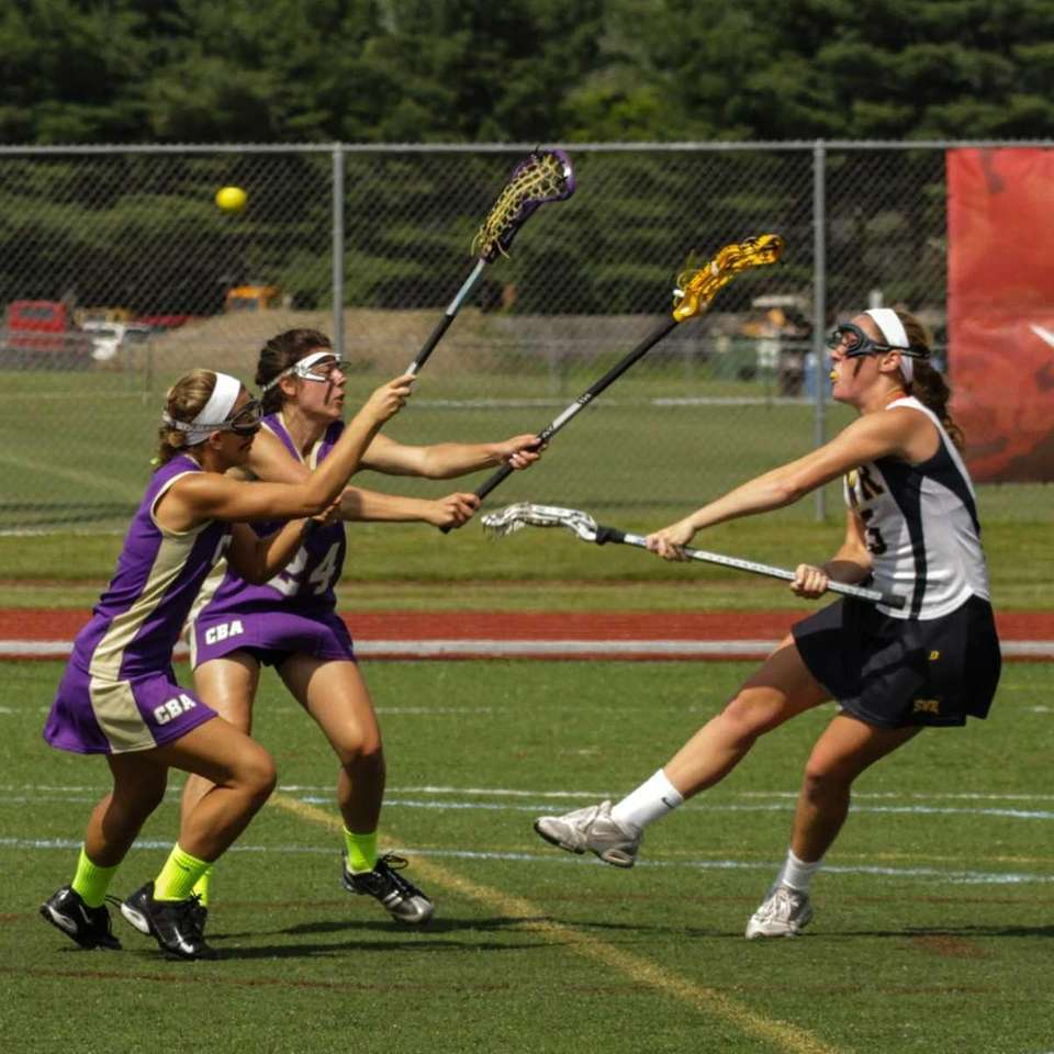 Shoreham Wading River's Jessica Angerman shoots and scores