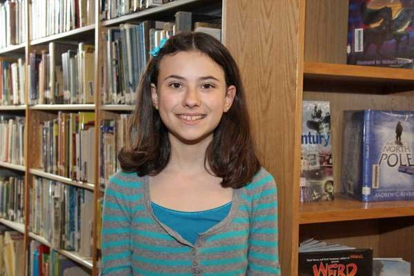 Lauren Tepper, an eighth-grader at Garden City Middle
