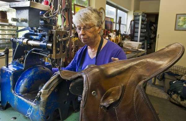 Eleanor Petersen, 78, a former seamstress who has