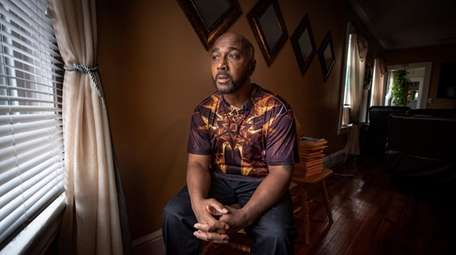 Keith Bush at his home in Bridgeport, CT
