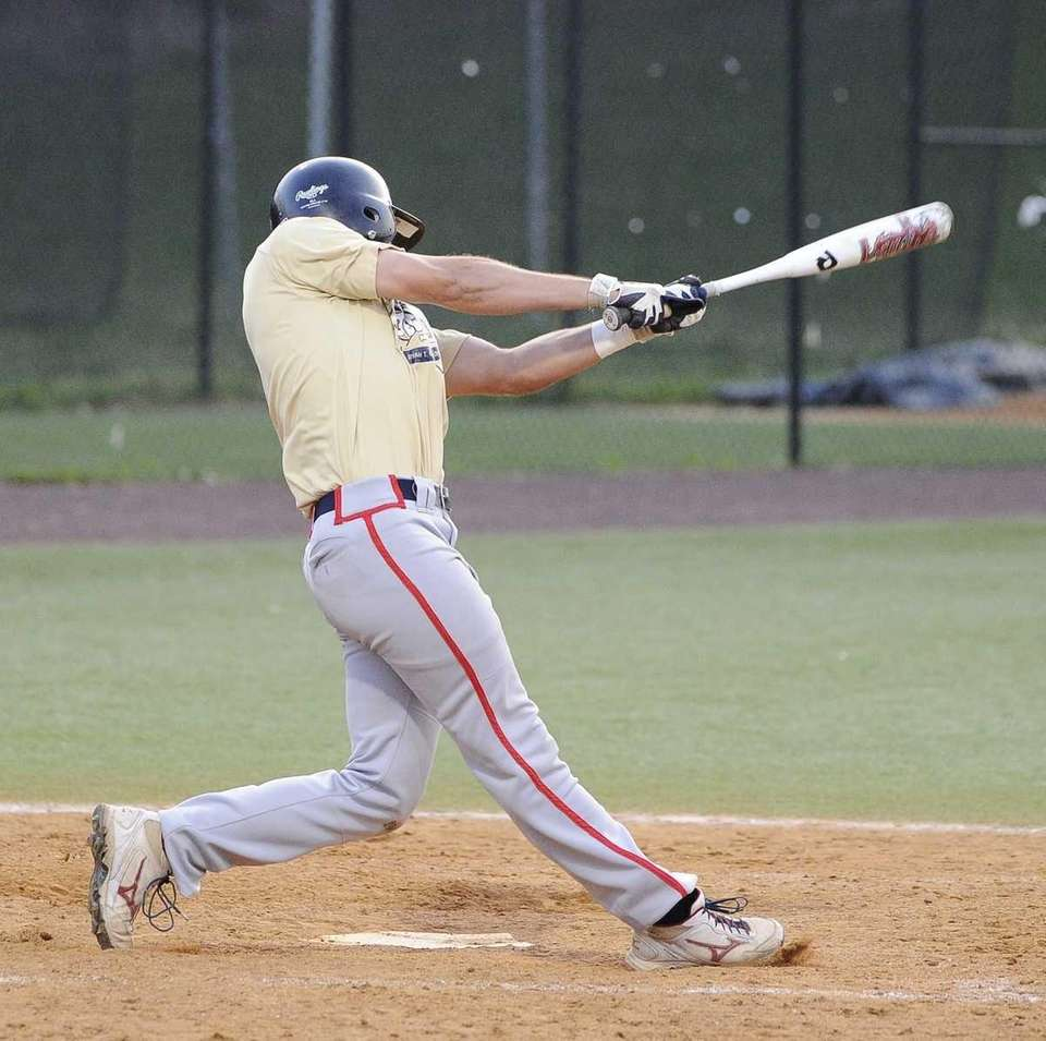 Nassau's Will Cheshire (MacArthur) hits a double that