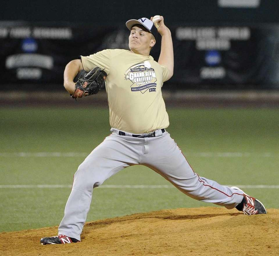 Nassau pitcher Joe Chiaramonte (MacArthur) delivers in the