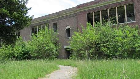 An abandoned school classified as a brownfield site