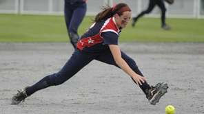MacArthur shortstop Kristen Brown fields the ball during