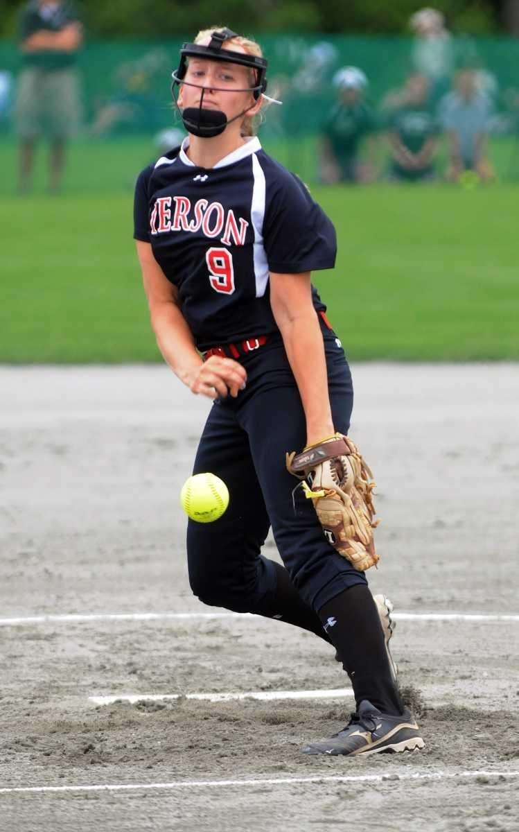 Pierson's Melanie Stafford pitches against Greenwich in the