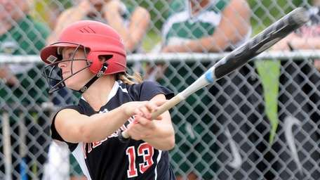 Pierson's Kasey Gilbride hits a home run against