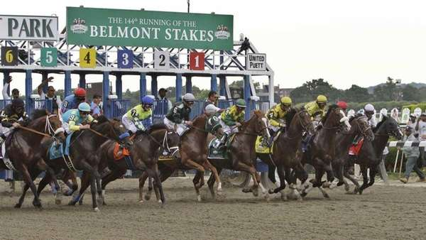 Eventual winner Union Rags, third from right, and