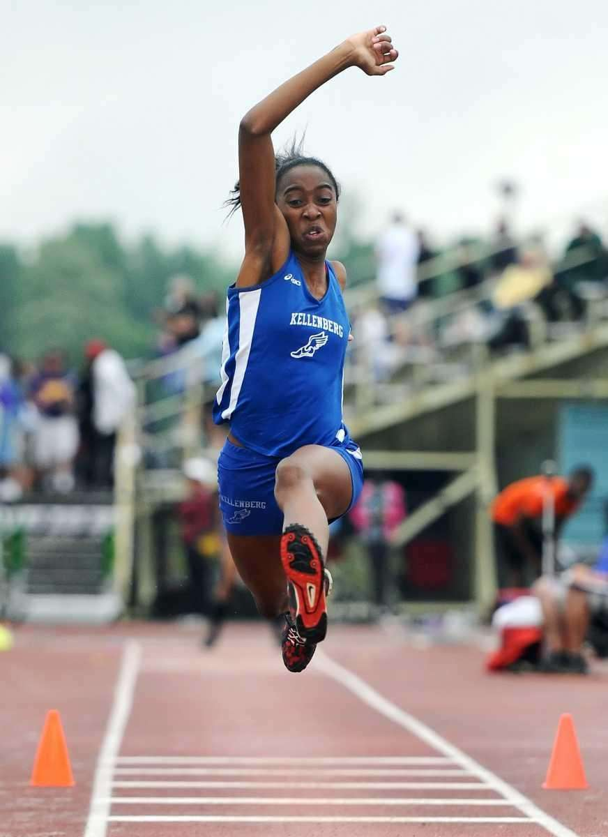 Kellenberg's Odrine Belot wins the girls triple jump