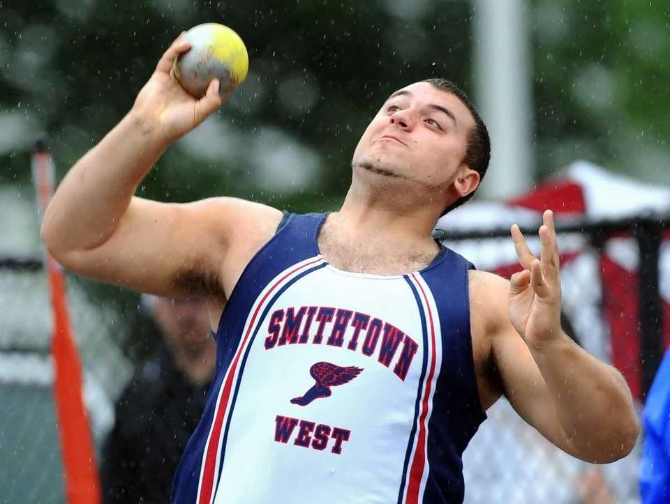 Smithtown West's Matthew Morganelli competes in the Division