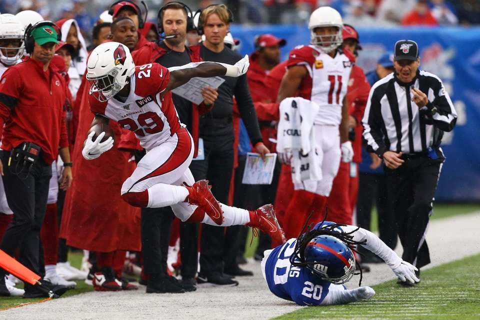 Chase Edmonds #29 of the Arizona Cardinals is