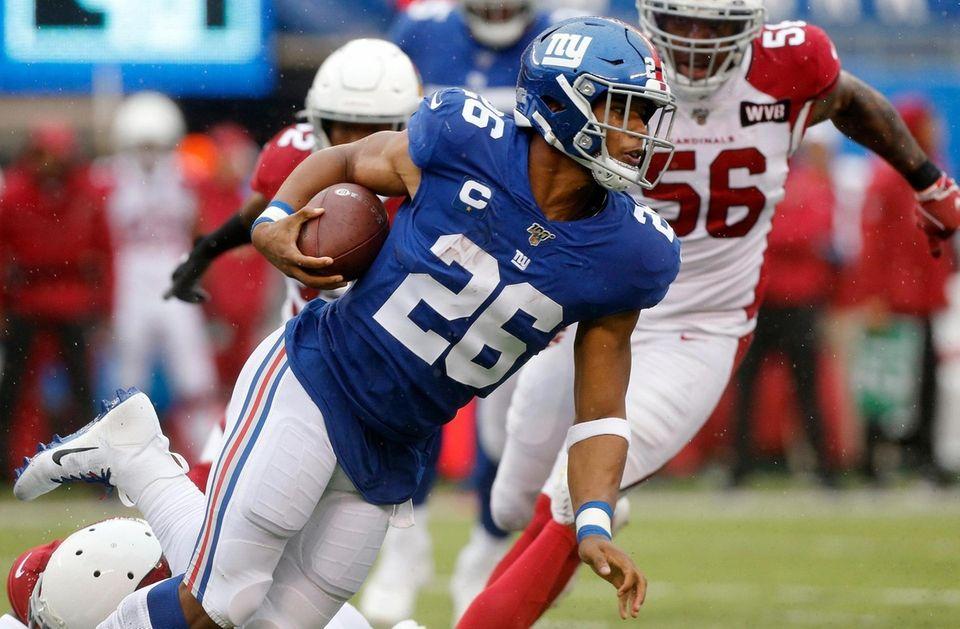 Saquon Barkley #26 of the New York Giants