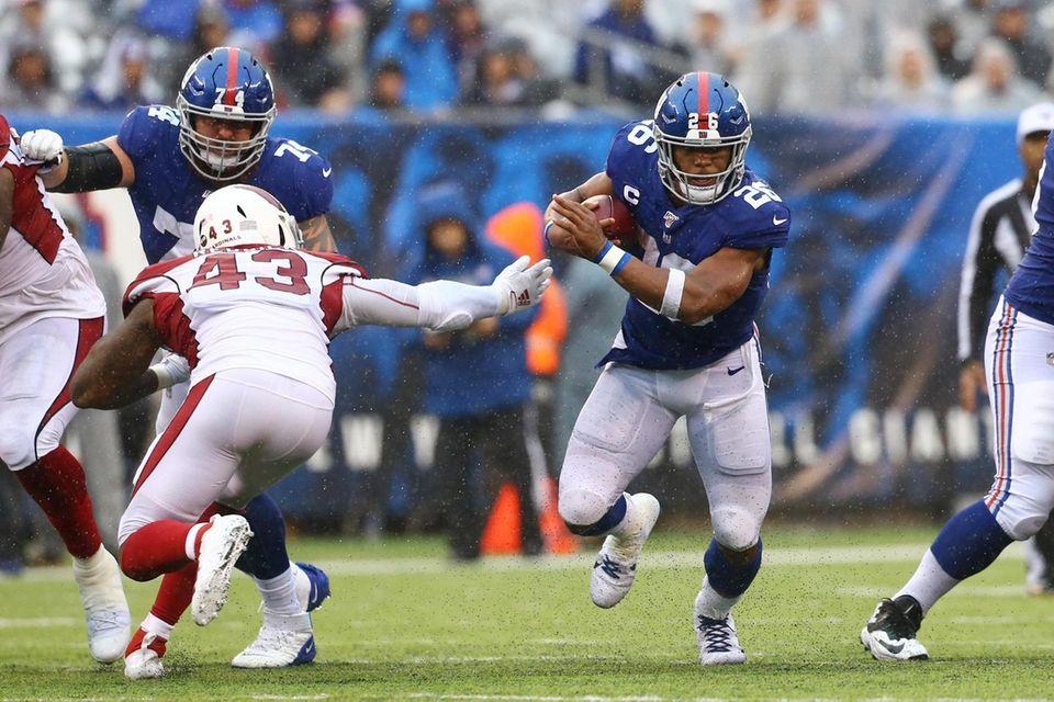 Sequin Barkley #26 of the New York Giants