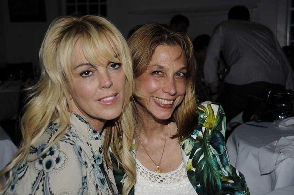 Dina Lohan at Nammos Estiatorio in Southampton,