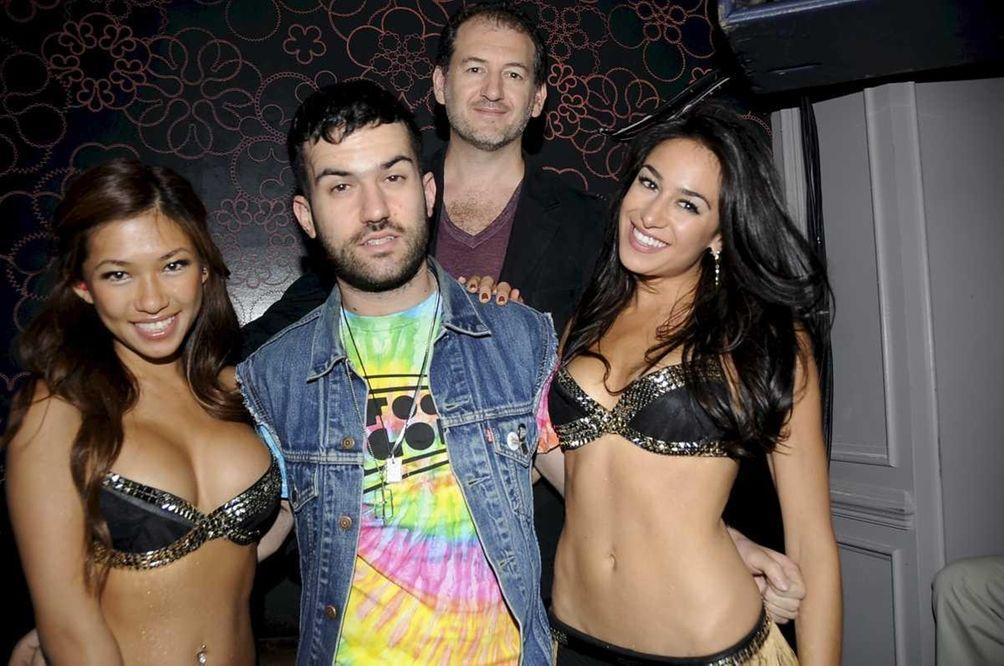 From left, dancer Jocelyn, DJ A-Track, club owner