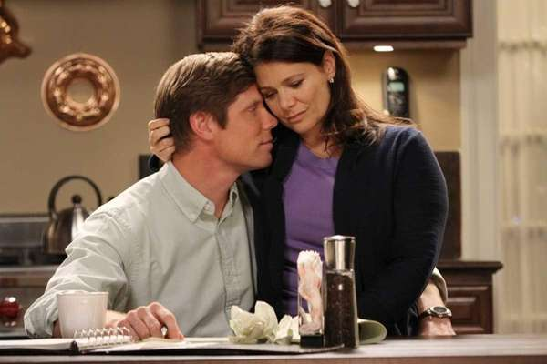 "Meredith Salenger and Brian Letscher in ""Hollywood Heights"""