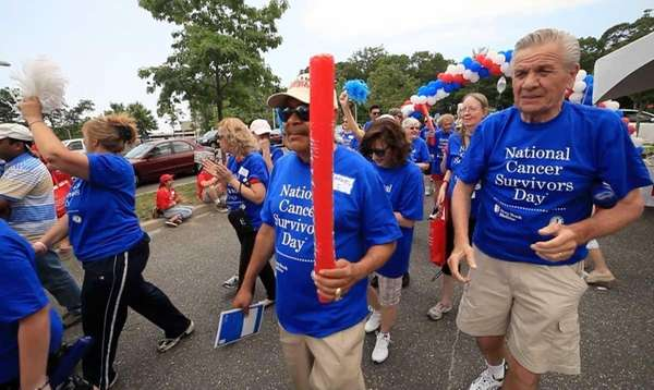 Cancer Survivors march in Stony Brook Medicine's National