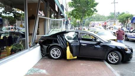 A car ran into a storefront at Provenance