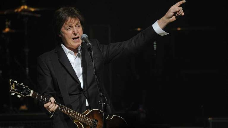 Paul McCartney performs in concert for the first