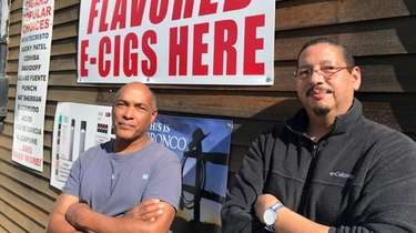 Jonathan Smith (left), owner of the Shinnecock Smoke