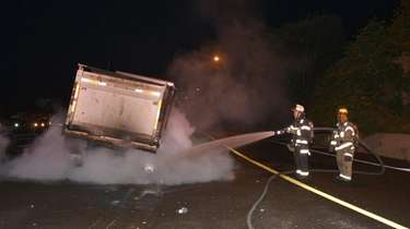 Firefighters from Jericho respond to a truck fire