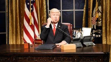 Alec Baldwin as Donald Trump during the