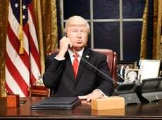 Alec Baldwin plays President Donald Trump during