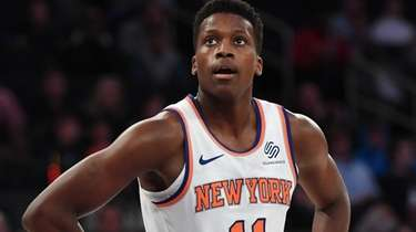 Knicks guard Frank Ntilikina against the Washington Wizards