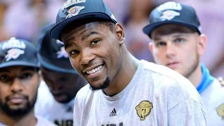 Kevin Durant of the Oklahoma City Thunder after