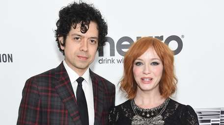 Geoffrey Arend and Christina Hendricks attend the