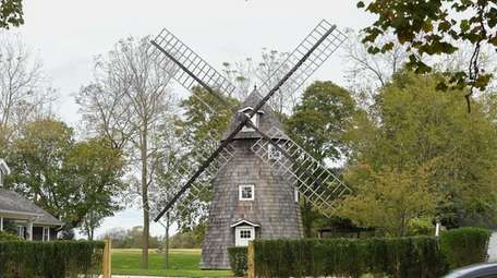A windmill on Main Road in Aquebogue.