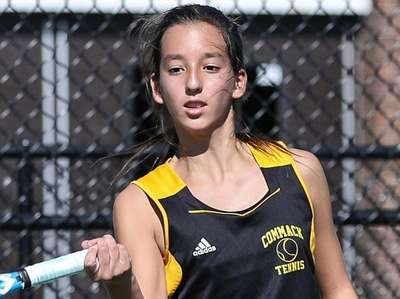 Kady Tannenbaum of Commack competes in the singles