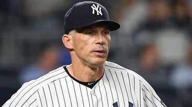 New York Yankees manager Joe Girardi looks on