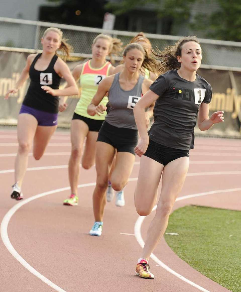 Shannon McDonnell (Shoreham-Wading River) leads the 800 meter