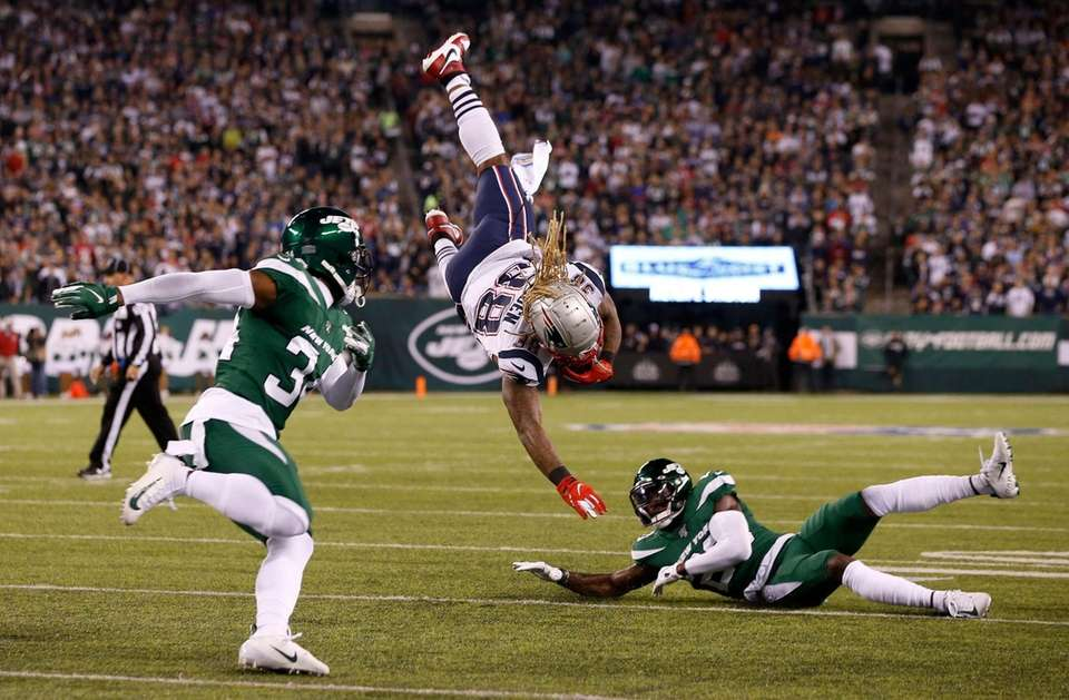Brandon Bolden #38 of the New England Patriots