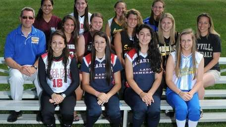 The 2012 Newsday All-Long Island softball team.Front row:,
