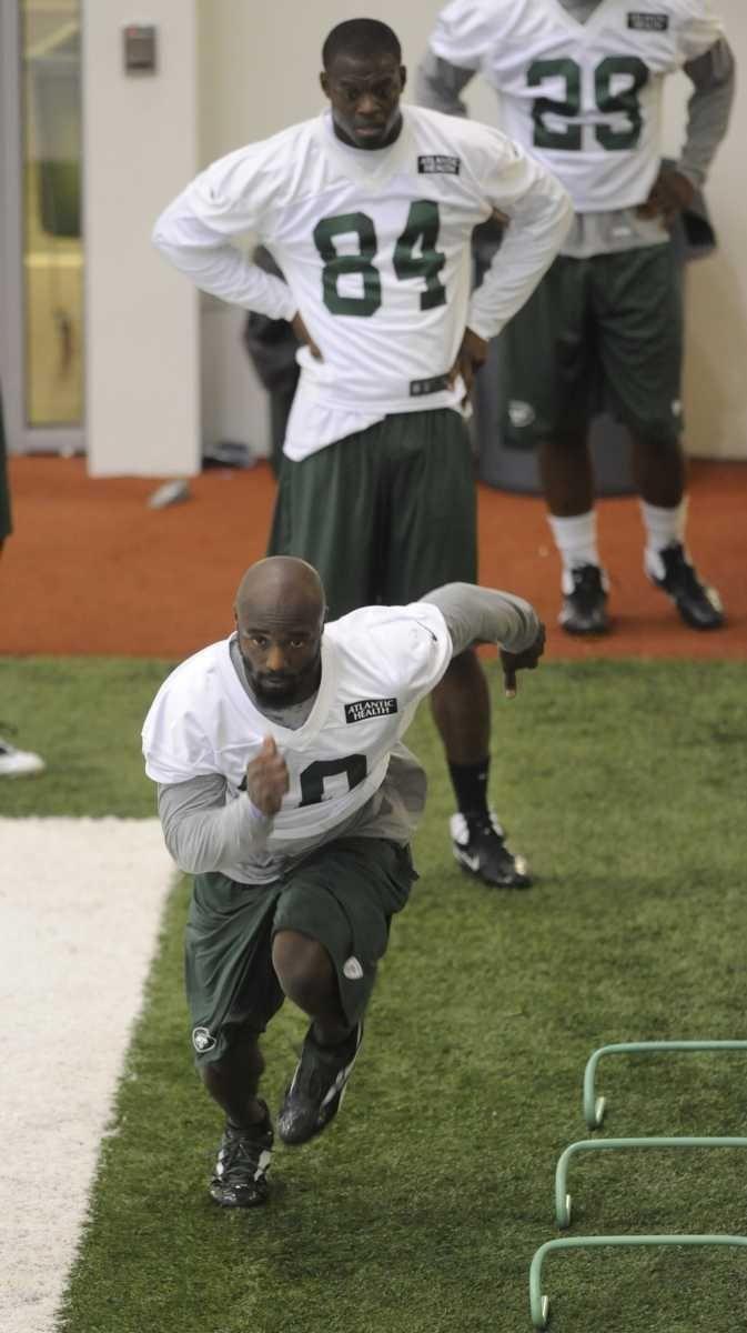 Jets wide receiver Santonio Holmes #10, Stephen Hill