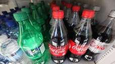 Twenty-ounce bottles of regular and diet soda for