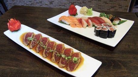 Chan's Sushi & Teriyaki's peppered tuna tataki and