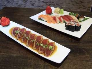Chan's Sushi & Teriyaki's peppered tuna tataki and