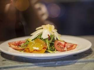 Toro Pazzo's bietole alpina salad with roasted golden