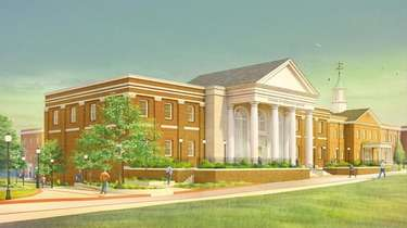 Artist rendering of Long Island University's College of