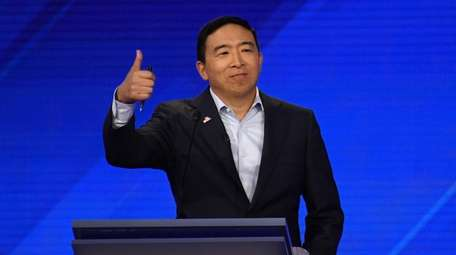 Andrew Yang was one of 10 Democratic presidential
