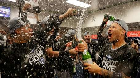 Last season the Yankees celebrated their ALDS victory