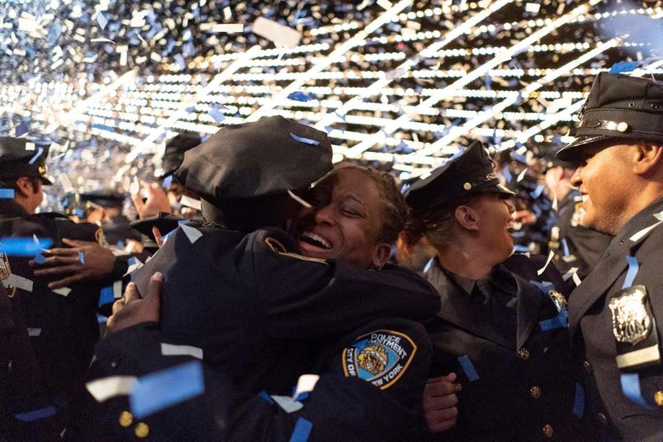 Members of the New York City Police Academy