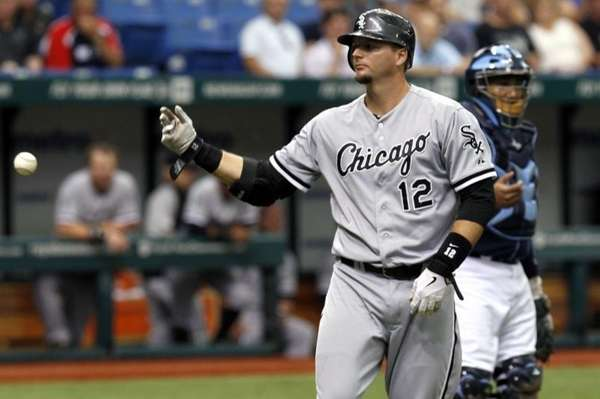 Chicago White Sox's A.J. Pierzynski throws the ball