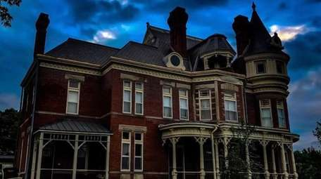 The 1889 McInteer Villa in Atchison, Kan., is