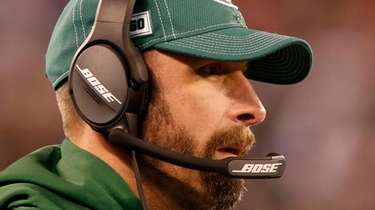 Jets head coach Adam Gase during the first
